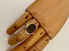 Michael Kneebone Cameo Cognac Quartz 18k Gold Archaic Style Ring - 1458451
