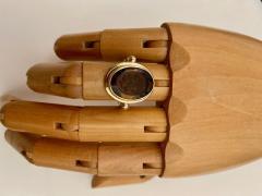 Michael Kneebone Cameo Cognac Quartz 18k Gold Archaic Style Ring - 1458453