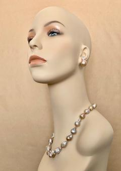 Michael Kneebone Flame Ball Baroque Pearl Necklace - 1584054