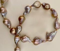 Michael Kneebone Flame Ball Baroque Pearl Necklace - 1584055