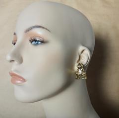 Michael Kneebone Michael Kneebone 18k Gold Diamond Inca Frog Earrings - 1179594