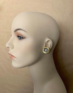 Michael Kneebone Michael Kneebone 18k Gold Roman Style Coin Button Earrings - 1359598