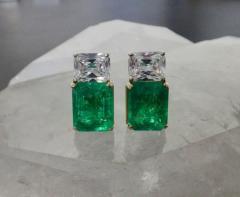 Michael Kneebone Michael Kneebone African Emerald White Sapphire Earrings - 1013414