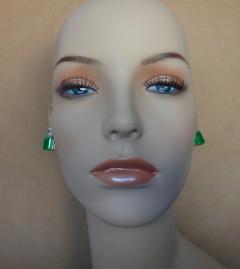 Michael Kneebone Michael Kneebone African Emerald White Sapphire Earrings - 1013418