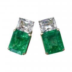 Michael Kneebone Michael Kneebone African Emerald White Sapphire Earrings - 1014616
