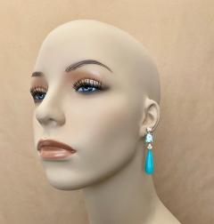 Michael Kneebone Michael Kneebone Amazonite Blue Topaz Diamond Sapphire Dangle Earrings - 1490866