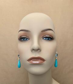 Michael Kneebone Michael Kneebone Amazonite Blue Topaz Diamond Sapphire Dangle Earrings - 1490868