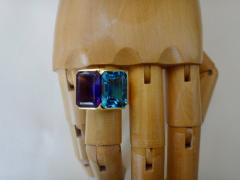 Michael Kneebone Michael Kneebone Amethyst Blue Topaz Due Pietra Cocktail Ring - 997730