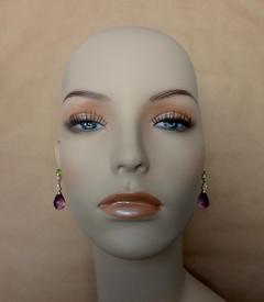 Michael Kneebone Michael Kneebone Amethyst Briolette Diamond Peridot Dangle Earrings - 1230432