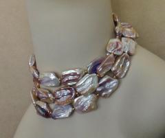 Michael Kneebone Michael Kneebone Amethyst Kinetic Dangle Earrings Tile Pearl Necklace Suite - 997456