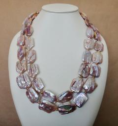 Michael Kneebone Michael Kneebone Amethyst Kinetic Dangle Earrings Tile Pearl Necklace Suite - 997459