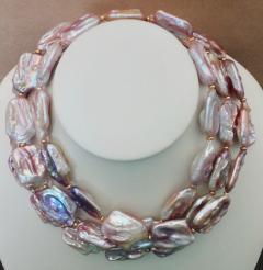 Michael Kneebone Michael Kneebone Amethyst Kinetic Dangle Earrings Tile Pearl Necklace Suite - 997462