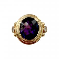 Michael Kneebone Michael Kneebone Amethyst White Diamond Archaic Style Cocktail Ring - 1389178