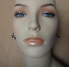 Michael Kneebone Michael Kneebone Amethyst White Diamond Confetti Dangle Earrings - 996384