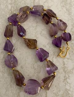 Michael Kneebone Michael Kneebone Ametrine Faceted Nugget Bead Necklace - 1899539
