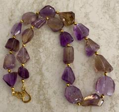 Michael Kneebone Michael Kneebone Ametrine Faceted Nugget Bead Necklace - 1899540