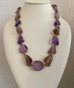 Michael Kneebone Michael Kneebone Ametrine Faceted Nugget Bead Necklace - 1899541