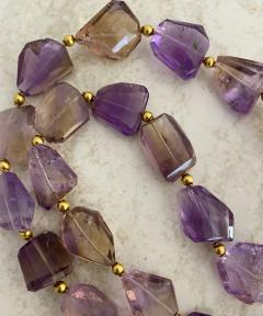 Michael Kneebone Michael Kneebone Ametrine Faceted Nugget Bead Necklace - 1899543