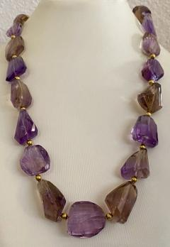 Michael Kneebone Michael Kneebone Ametrine Faceted Nugget Bead Necklace - 1899544