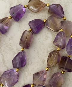 Michael Kneebone Michael Kneebone Ametrine Faceted Nugget Bead Necklace - 1899545