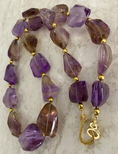 Michael Kneebone Michael Kneebone Ametrine Faceted Nugget Bead Necklace - 1899548