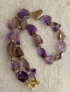 Michael Kneebone Michael Kneebone Ametrine Faceted Nugget Bead Necklace - 1899549