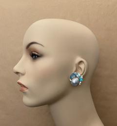Michael Kneebone Michael Kneebone Apatite Blue Topaz Diamond 18k Gold Confetti Earrings - 1718985