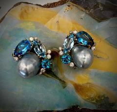 Michael Kneebone Michael Kneebone Apatite Blue Topaz Diamond 18k Gold Confetti Earrings - 1718986