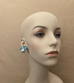 Michael Kneebone Michael Kneebone Apatite Blue Topaz Diamond 18k Gold Confetti Earrings - 1718987