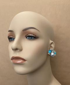 Michael Kneebone Michael Kneebone Apatite Blue Topaz Diamond 18k Gold Confetti Earrings - 1718991