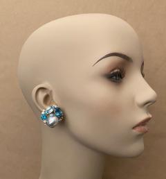Michael Kneebone Michael Kneebone Apatite Blue Topaz Diamond 18k Gold Confetti Earrings - 1718995