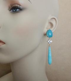 Michael Kneebone Michael Kneebone Aqua Blue Chalcedony Aquamarine Amazonite Dangle Earrings - 1300838
