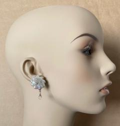 Michael Kneebone Michael Kneebone Baroque Pearl Diamond Crystal Briolette Dangle Earrings - 1631180