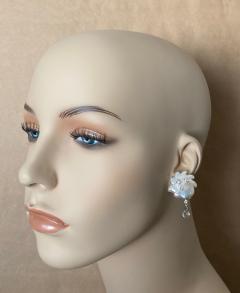Michael Kneebone Michael Kneebone Baroque Pearl Diamond Crystal Briolette Dangle Earrings - 1631221