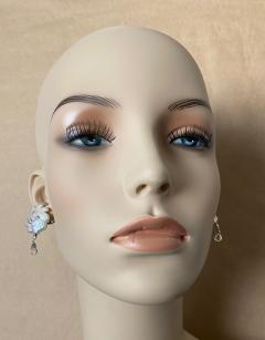 Michael Kneebone Michael Kneebone Baroque Pearl Diamond Crystal Briolette Dangle Earrings - 1631242