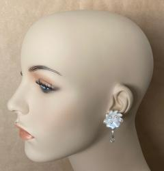 Michael Kneebone Michael Kneebone Baroque Pearl Diamond Crystal Briolette Dangle Earrings - 1631257