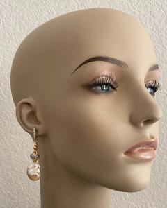 Michael Kneebone Michael Kneebone Baroque Pearl Diamond Granulated Bead Dangle Earrings - 1898219