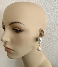 Michael Kneebone Michael Kneebone Baroque South Seas Pearl Diamond Dangle Earrings - 1963369