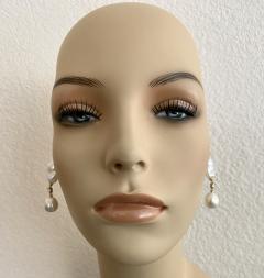 Michael Kneebone Michael Kneebone Baroque South Seas Pearl Diamond Dangle Earrings - 1963375