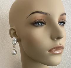 Michael Kneebone Michael Kneebone Baroque South Seas Pearl Diamond Dangle Earrings - 1963377