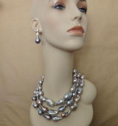Michael Kneebone Michael Kneebone Baroque Tahitian Pearl Sapphire Diamond Dangle Earrings - 1300914