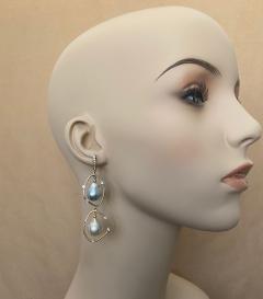 Michael Kneebone Michael Kneebone Baroque Tahitian Pearl South Seas Pearl Diamond Dangle Earrings - 1490854