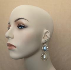 Michael Kneebone Michael Kneebone Baroque Tahitian Pearl South Seas Pearl Diamond Dangle Earrings - 1490860