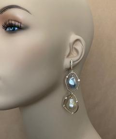 Michael Kneebone Michael Kneebone Baroque Tahitian Pearl South Seas Pearl Diamond Dangle Earrings - 1490861