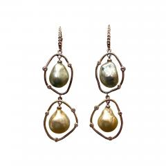 Michael Kneebone Michael Kneebone Baroque Tahitian Pearl South Seas Pearl Diamond Dangle Earrings - 1491081