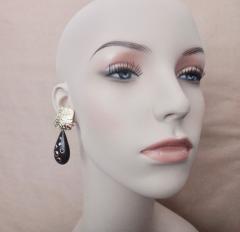 Michael Kneebone Michael Kneebone Black Diamond Ebony 18k Gold Petroglyph Dangle Earrings - 1290287