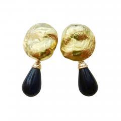Michael Kneebone Michael Kneebone Black Onyx 18 Karat Jingle Dangle Earrings - 1016962