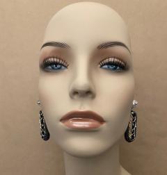 Michael Kneebone Michael Kneebone Black Shagreen White Pearl Diamond Dangle Earrings - 1651714
