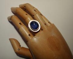 Michael Kneebone Michael Kneebone Blue Star Sapphire 18 Karat Gold Ring - 996826