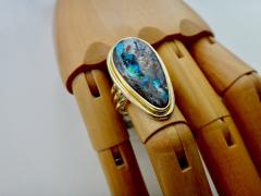 Michael Kneebone Michael Kneebone Boulder Opal 18K Yellow Gold Cocktail Ring - 1230457